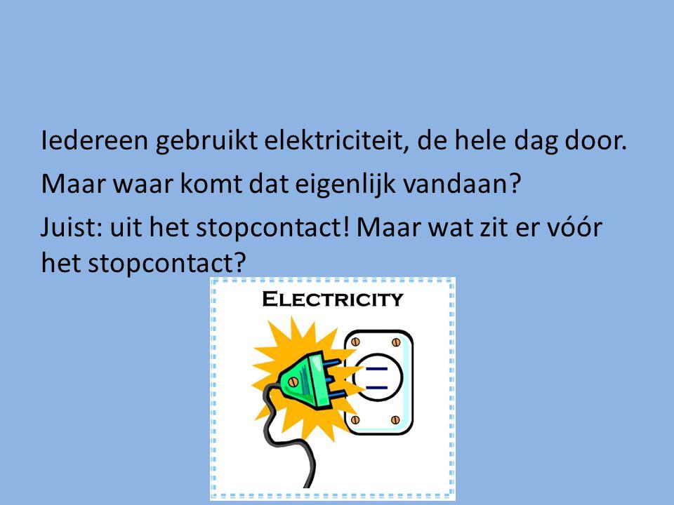 Iedereen gebruikt elektriciteit, de hele dag door.