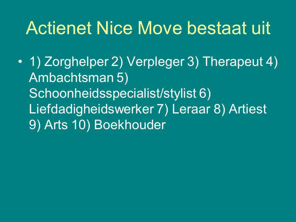 Actienet Nice Move bestaat uit