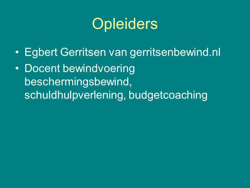 Opleiders Egbert Gerritsen van gerritsenbewind.nl