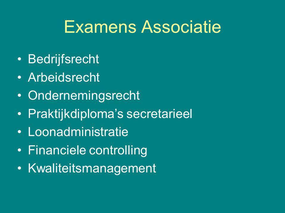 Examens Associatie Bedrijfsrecht Arbeidsrecht Ondernemingsrecht