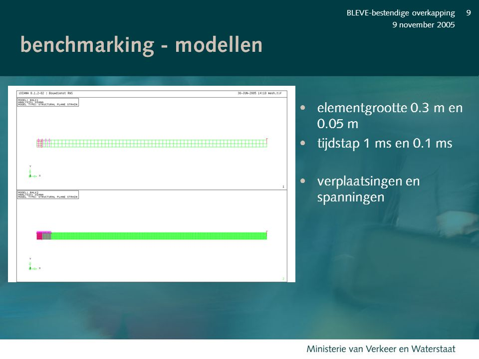 benchmarking - modellen