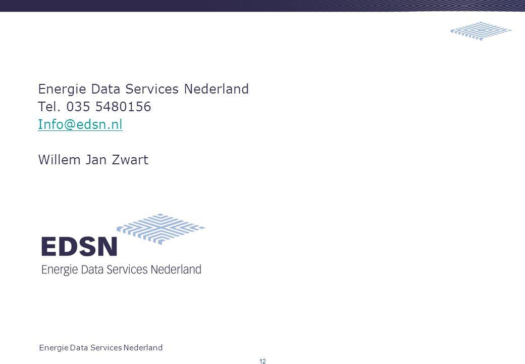 Energie Data Services Nederland Tel. 035 5480156 Info@edsn.nl