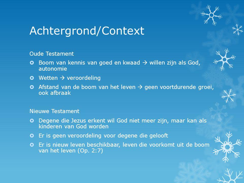 Achtergrond/Context Oude Testament