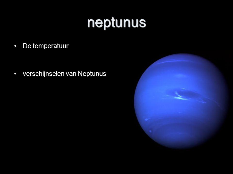 neptunus De temperatuur verschijnselen van Neptunus