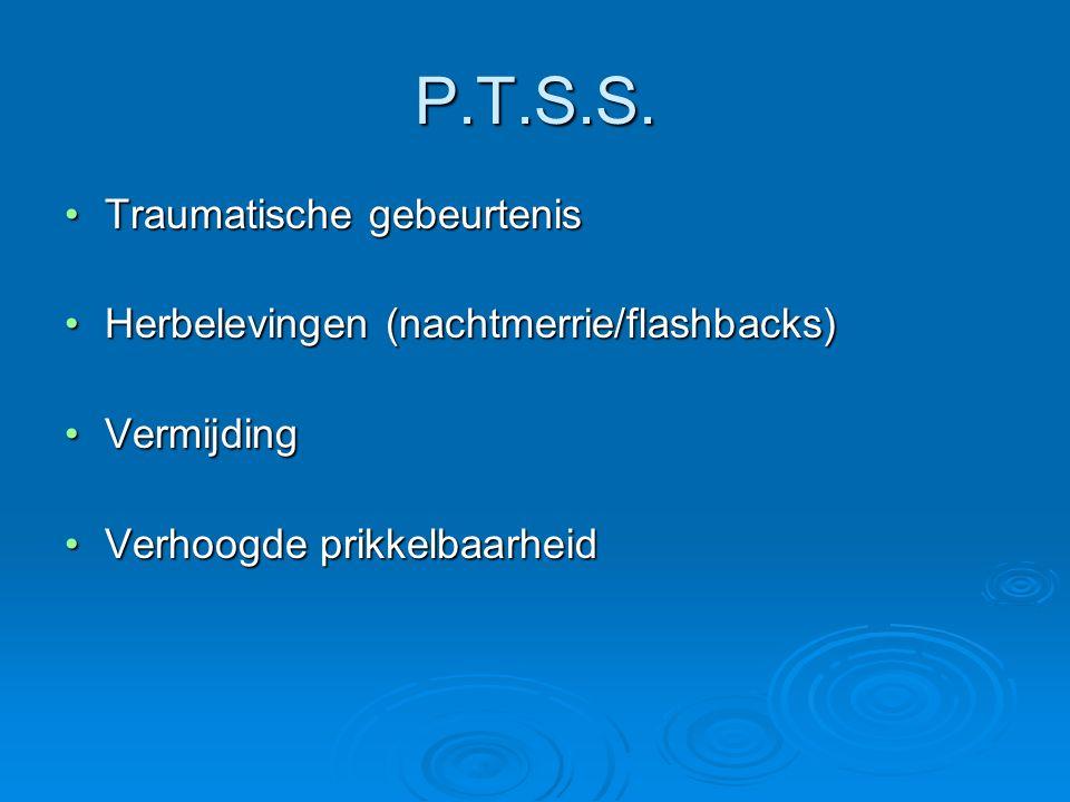 P.T.S.S. Traumatische gebeurtenis