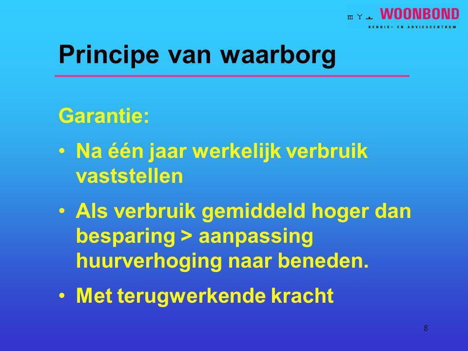 Principe van waarborg Garantie: