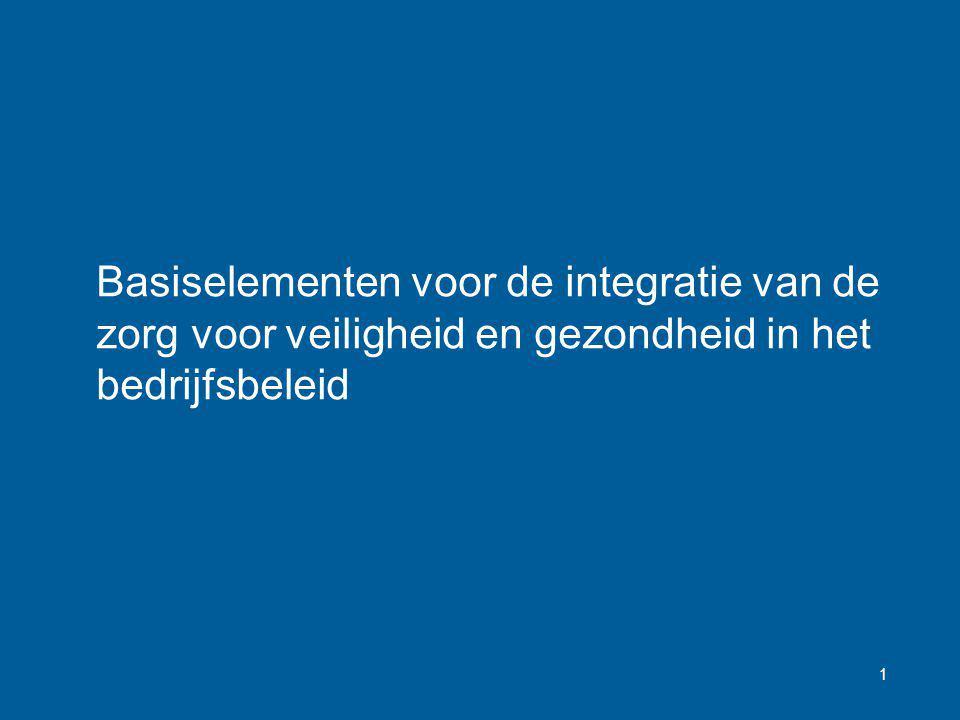Basiselementen voor de integratie van de zorg voor veiligheid en gezondheid in het bedrijfsbeleid