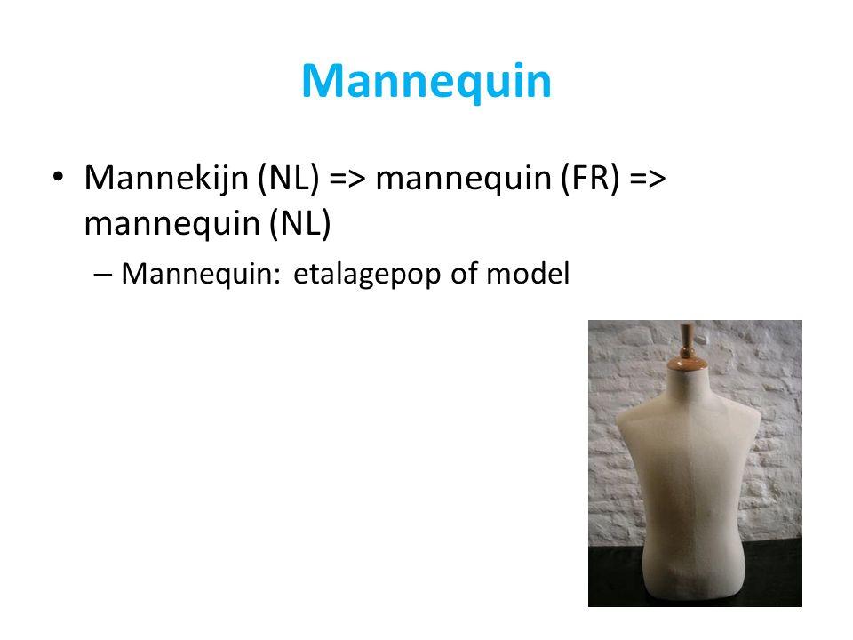 Mannequin Mannekijn (NL) => mannequin (FR) => mannequin (NL)