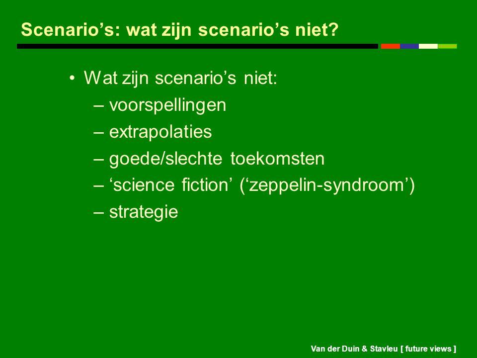 Scenario's: wat zijn scenario's niet