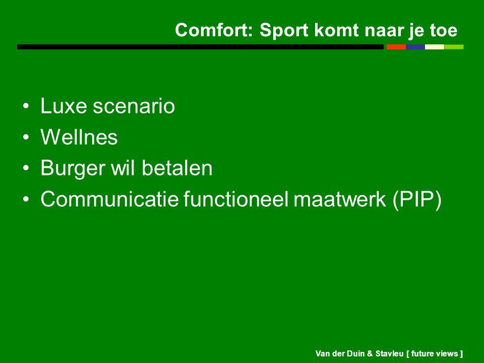 Comfort: Sport komt naar je toe