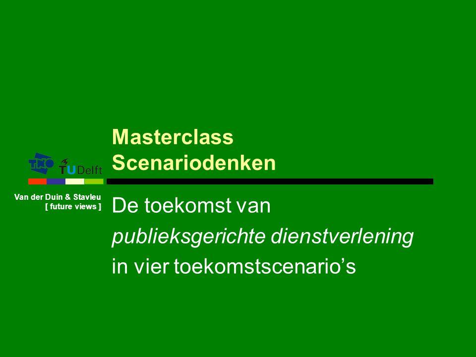 Masterclass Scenariodenken