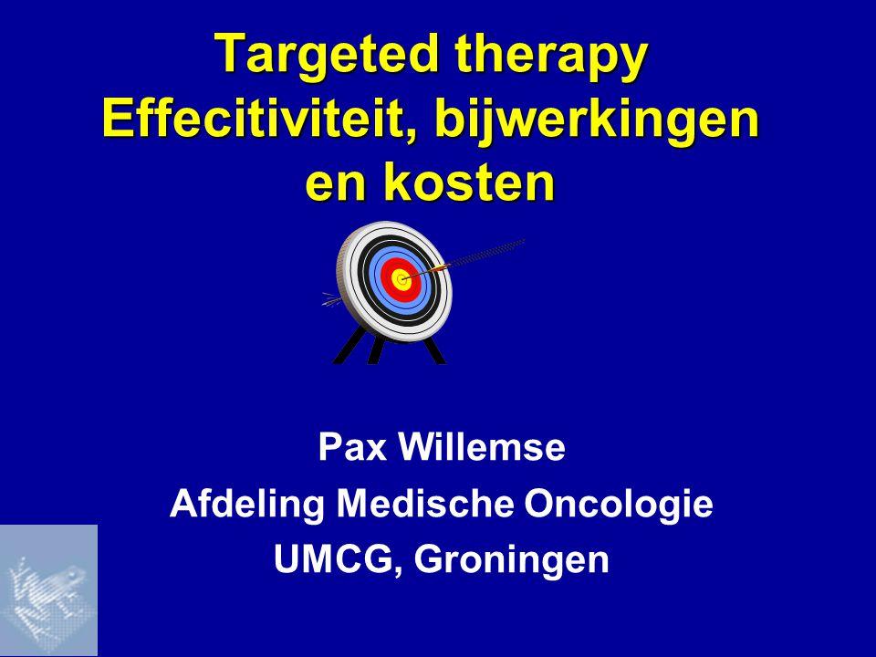 Targeted therapy Effecitiviteit, bijwerkingen en kosten