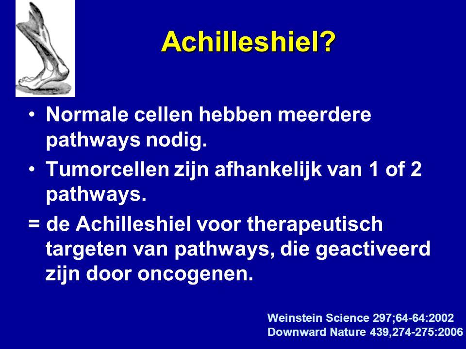 Achilleshiel Normale cellen hebben meerdere pathways nodig.