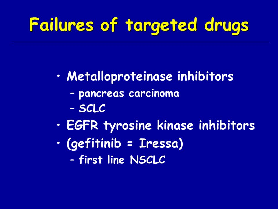 Failures of targeted drugs