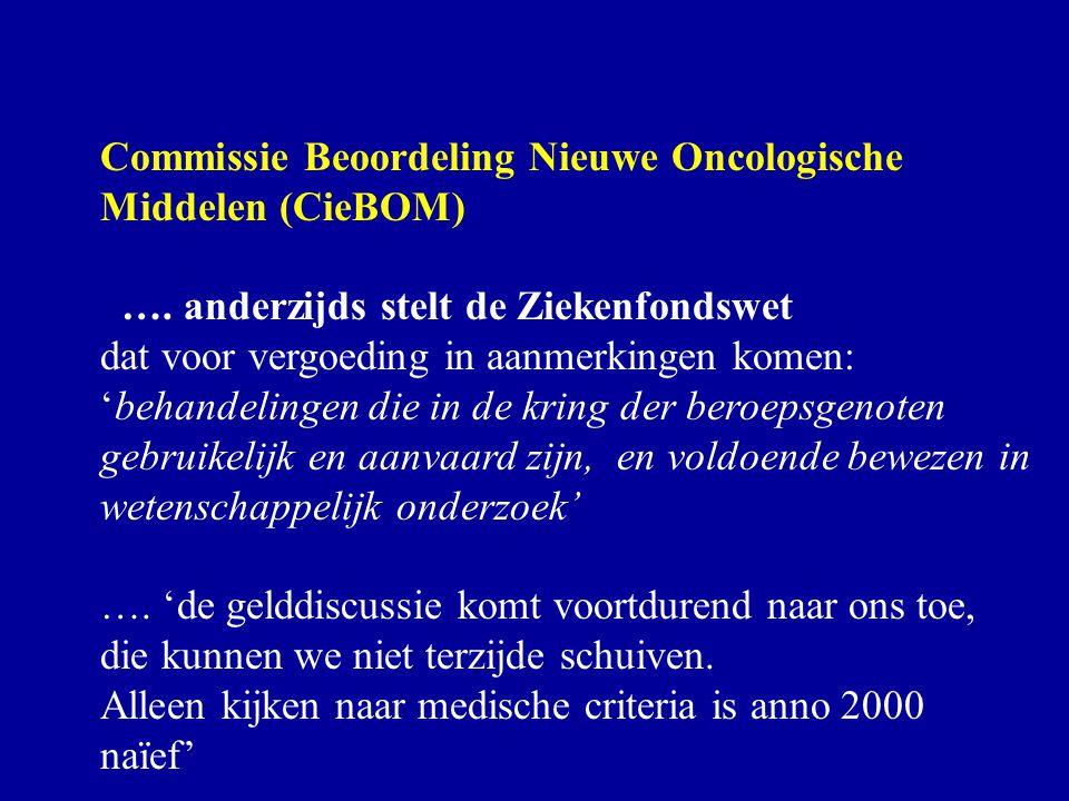 Commissie Beoordeling Nieuwe Oncologische Middelen (CieBOM)