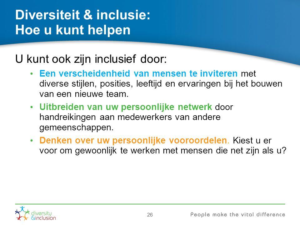 Diversiteit & inclusie: Hoe u kunt helpen