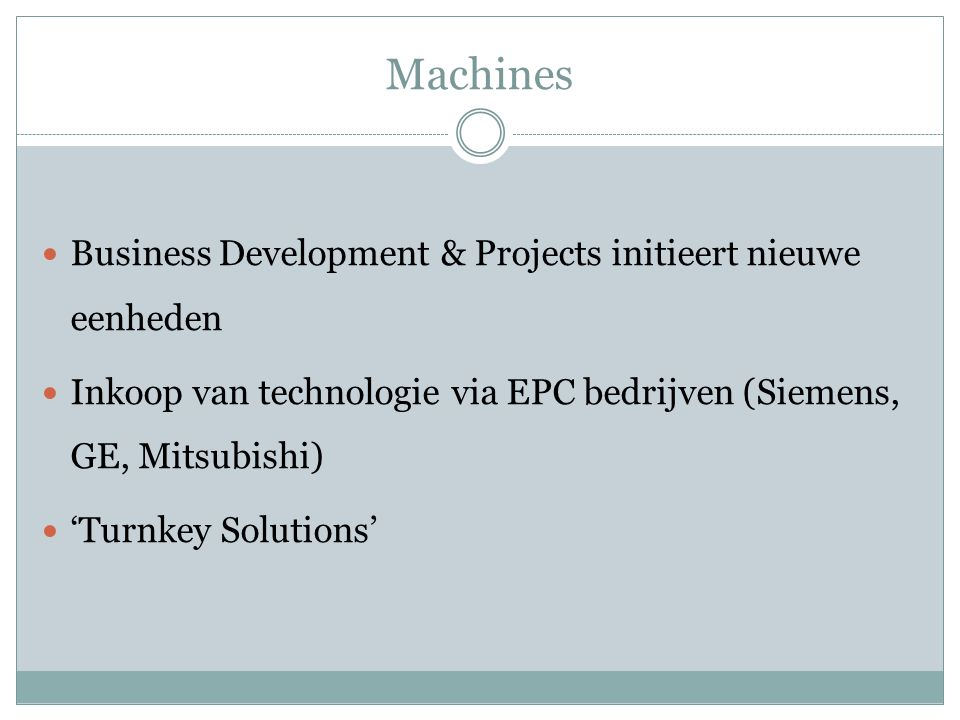 Machines Business Development & Projects initieert nieuwe eenheden