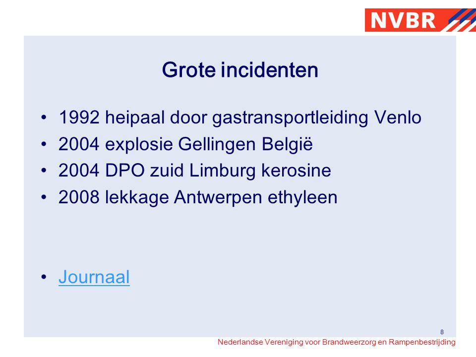 Grote incidenten 1992 heipaal door gastransportleiding Venlo