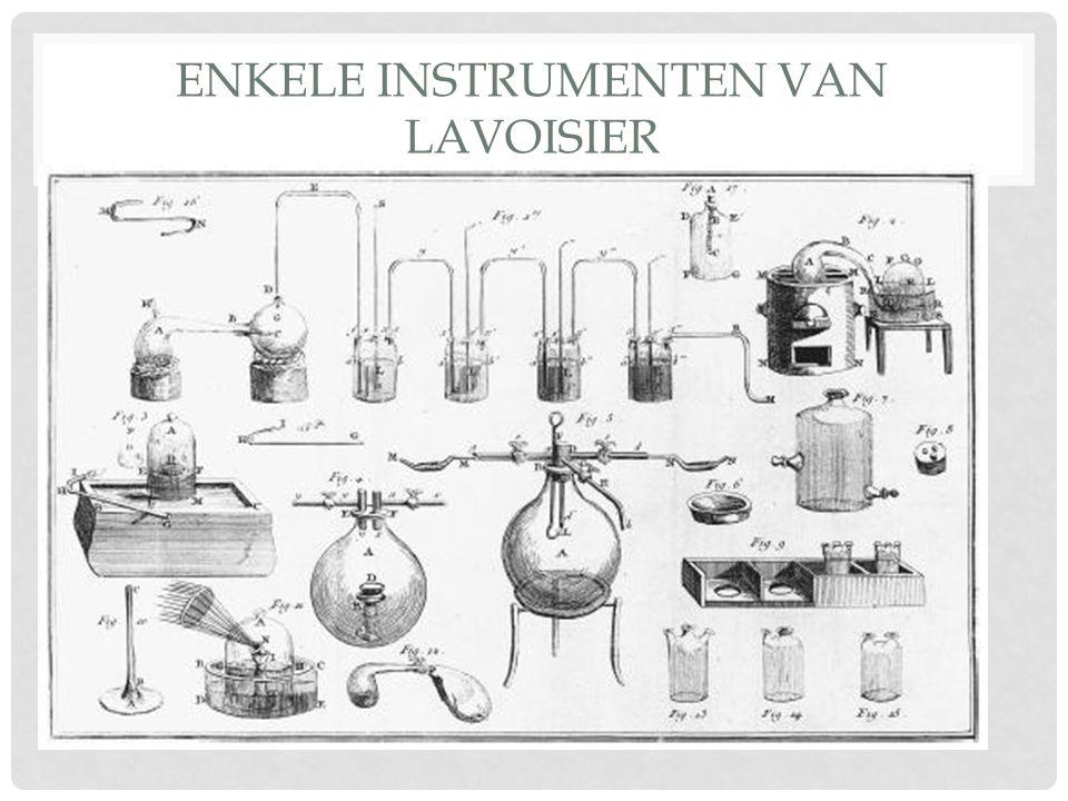 Enkele instrumenten van Lavoisier
