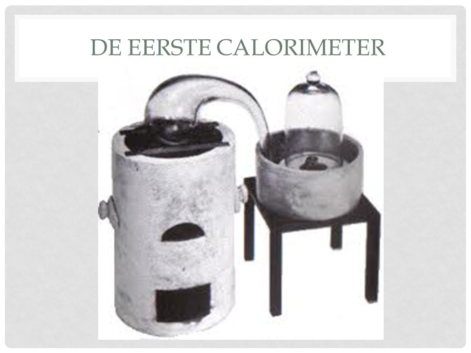 de eerste calorimeter