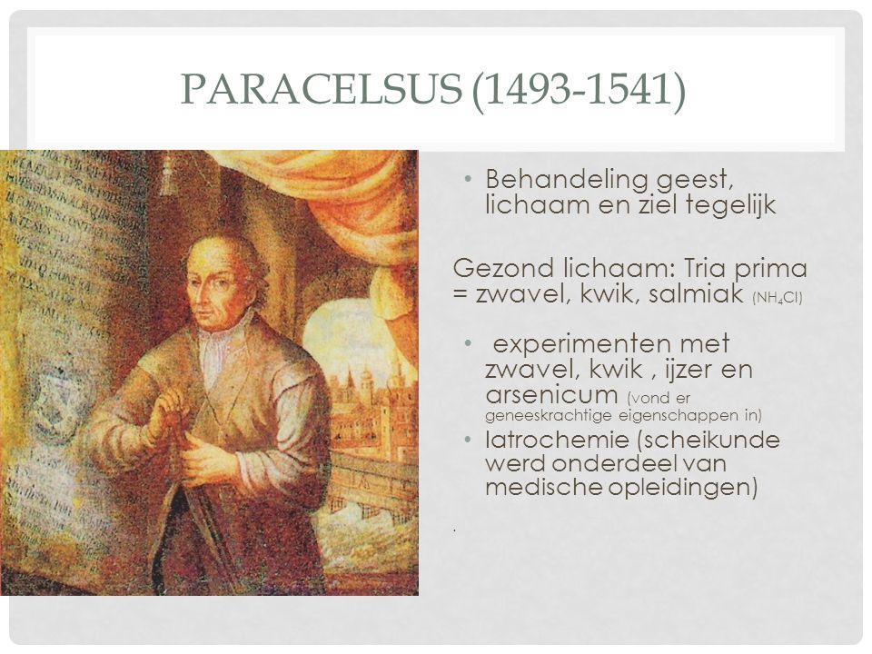 Paracelsus (1493-1541) Behandeling geest, lichaam en ziel tegelijk