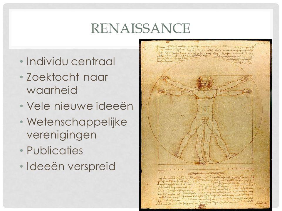 renaissance Individu centraal Zoektocht naar waarheid