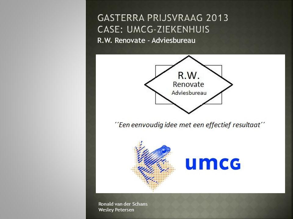 GasTerra Prijsvraag 2013 Case: UMCG-ziekenhuis