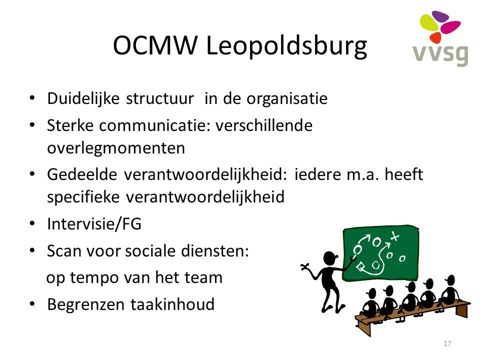 OCMW Leopoldsburg Duidelijke structuur in de organisatie