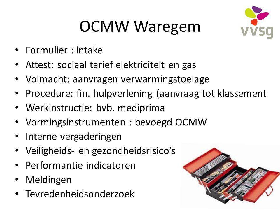 OCMW Waregem Formulier : intake
