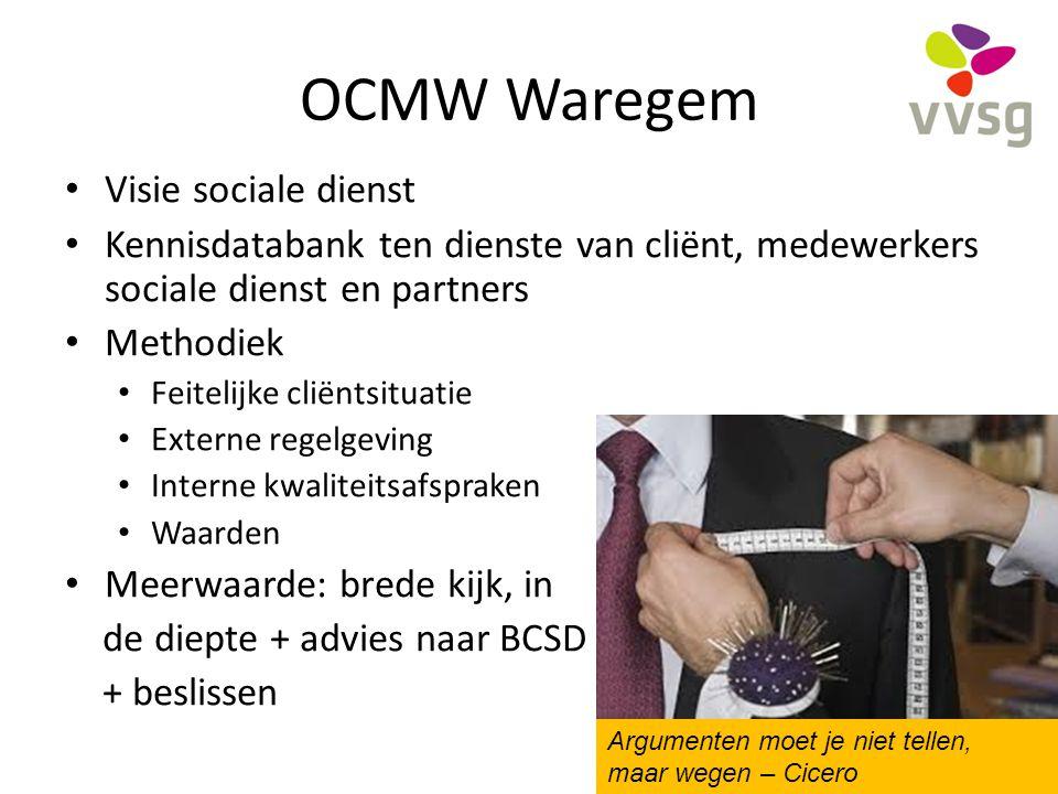 OCMW Waregem Visie sociale dienst