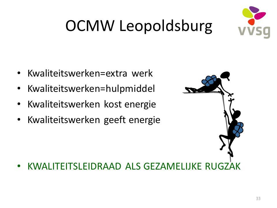 OCMW Leopoldsburg Kwaliteitswerken=extra werk