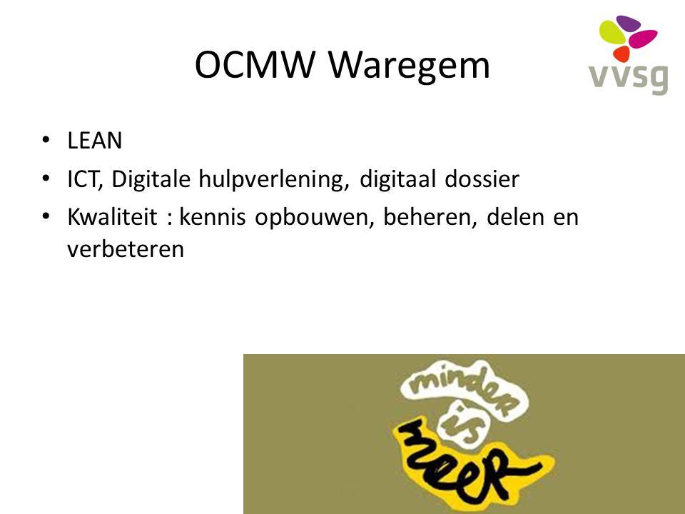 OCMW Waregem LEAN ICT, Digitale hulpverlening, digitaal dossier