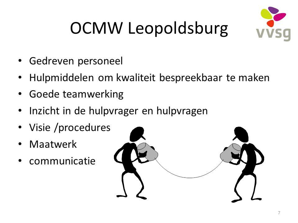 OCMW Leopoldsburg Gedreven personeel