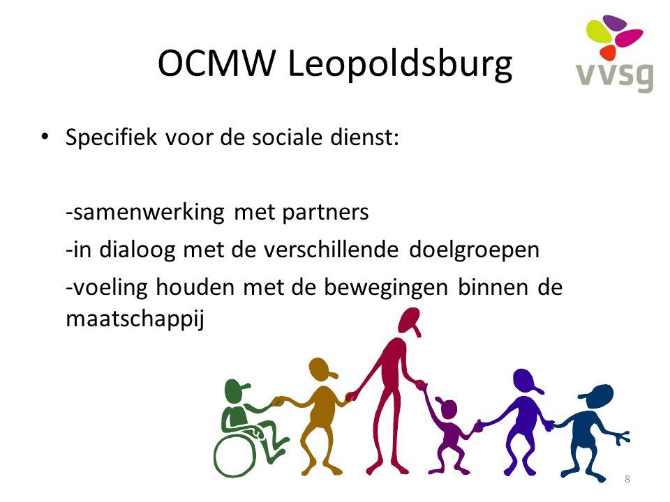 OCMW Leopoldsburg Specifiek voor de sociale dienst: