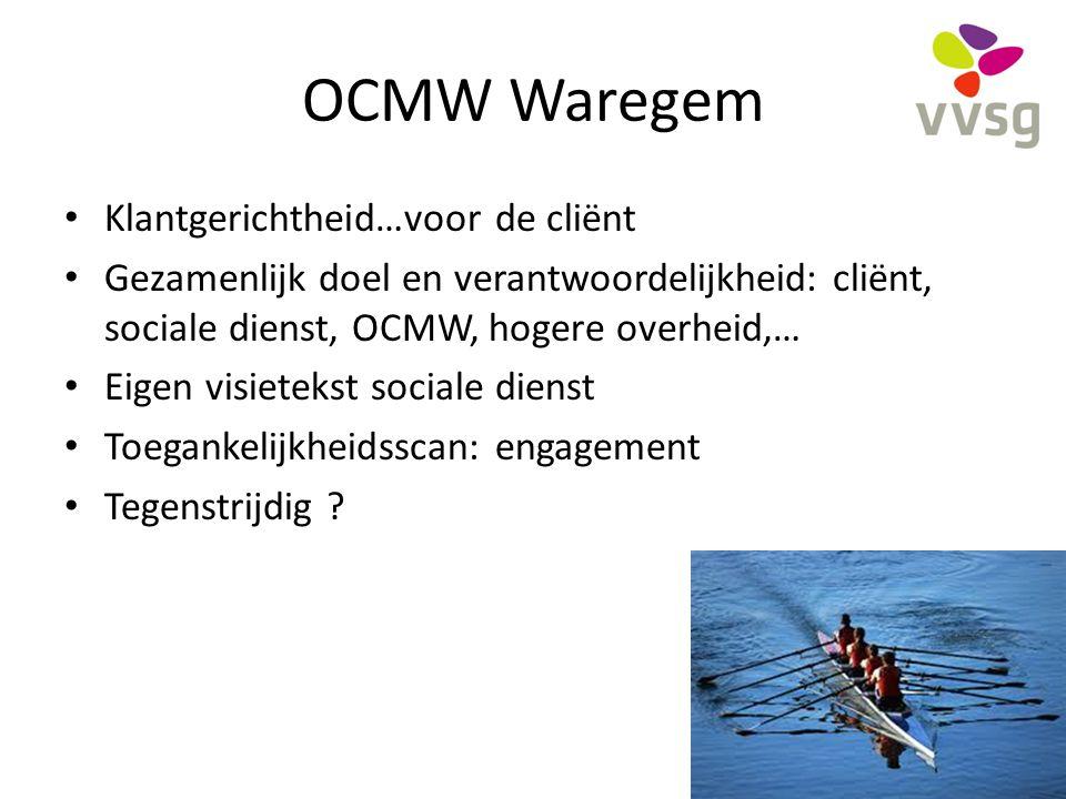 OCMW Waregem Klantgerichtheid…voor de cliënt