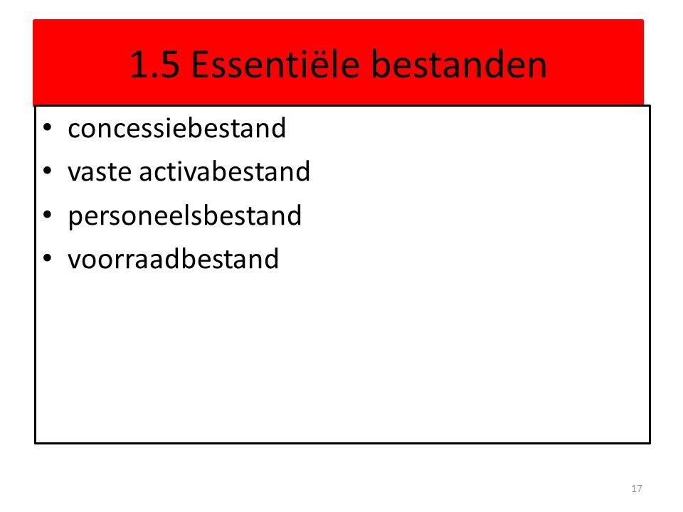 1.5 Essentiële bestanden concessiebestand vaste activabestand