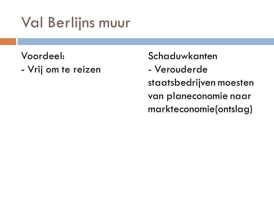 Val Berlijns muur Voordeel: - Vrij om te reizen