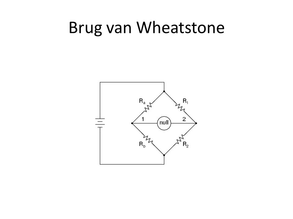 Brug van Wheatstone