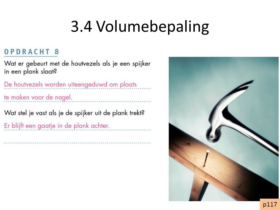 3.4 Volumebepaling p117