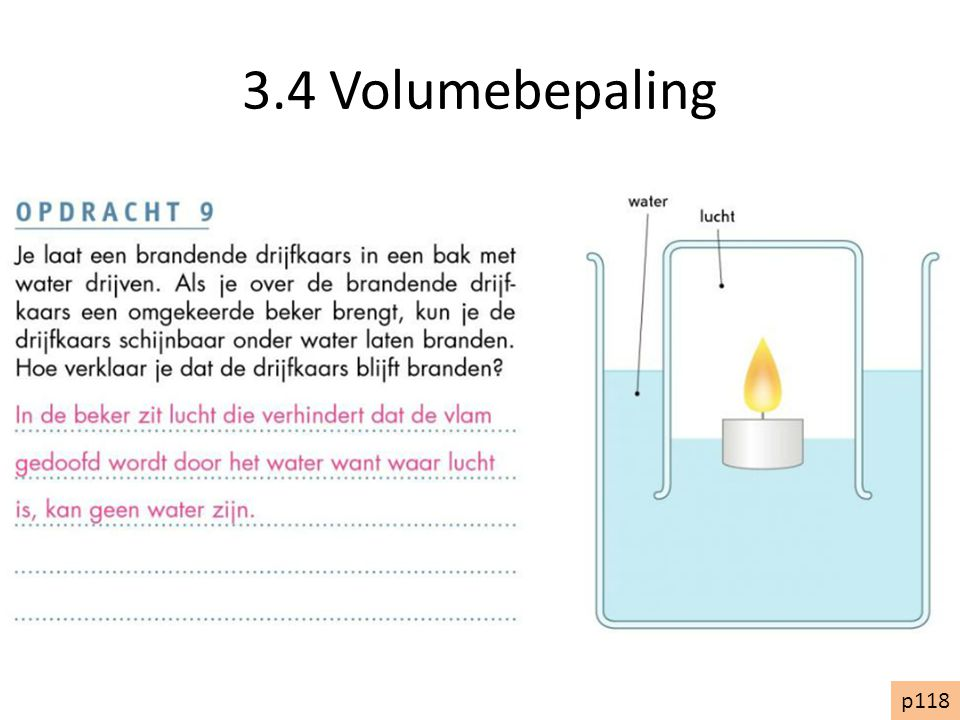 3.4 Volumebepaling p118