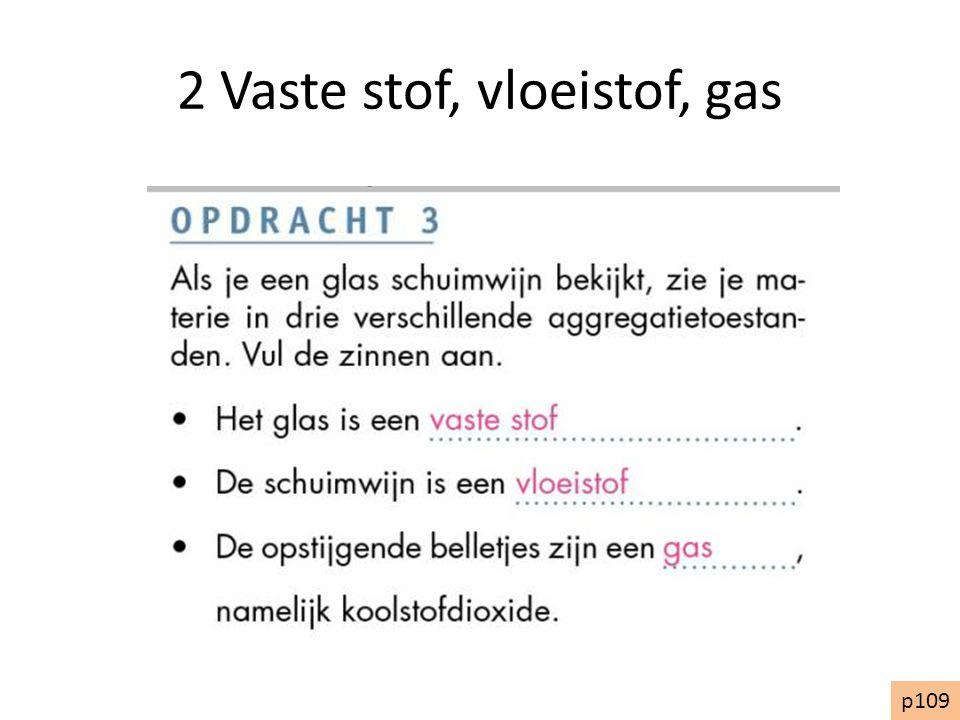 2 Vaste stof, vloeistof, gas