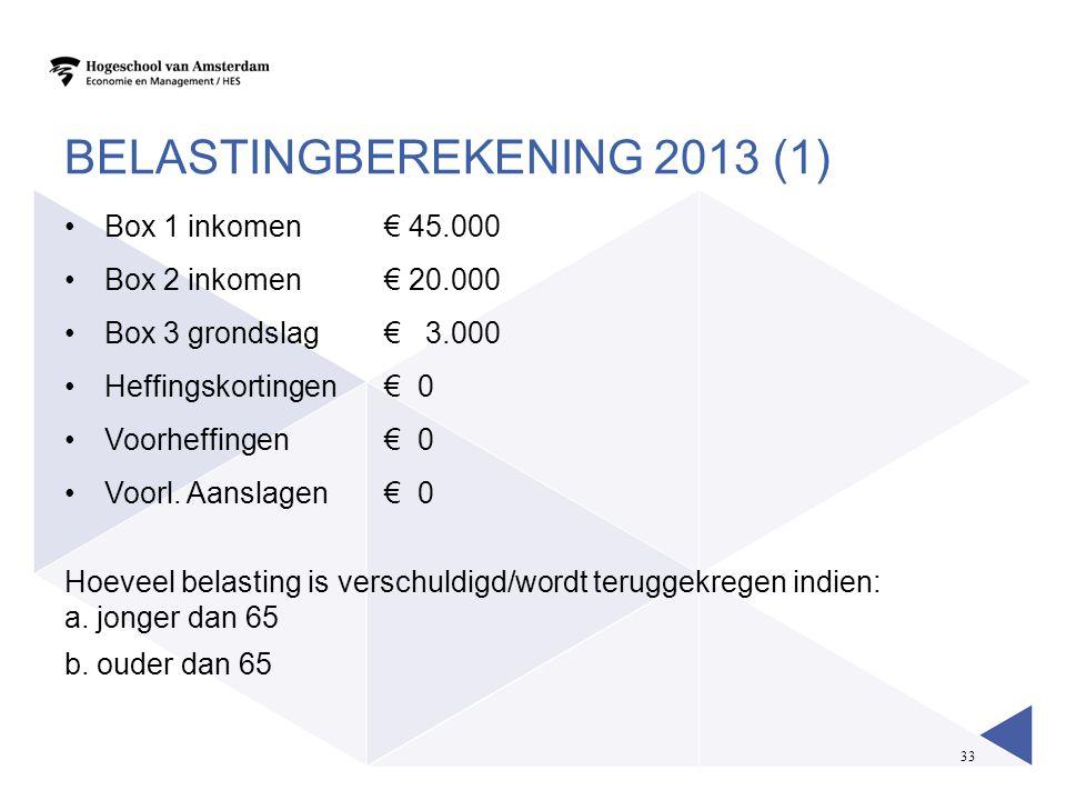 Belastingberekening 2013 (1)