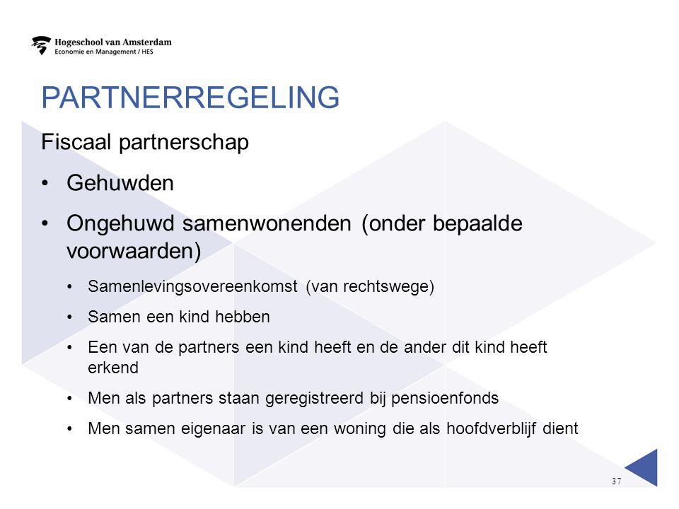 Partnerregeling Fiscaal partnerschap Gehuwden