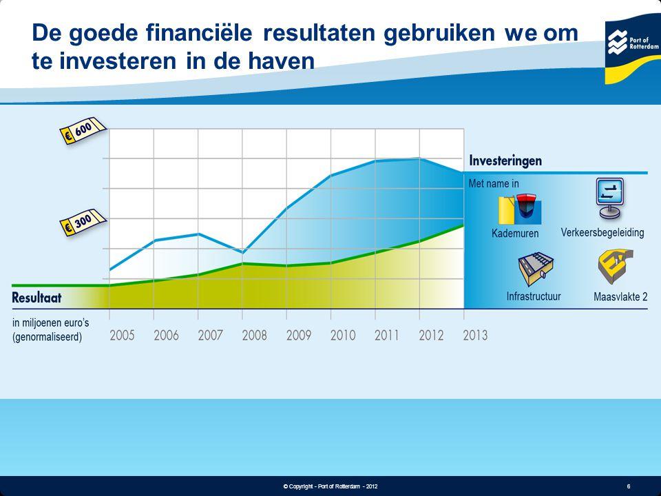 De goede financiële resultaten gebruiken we om te investeren in de haven
