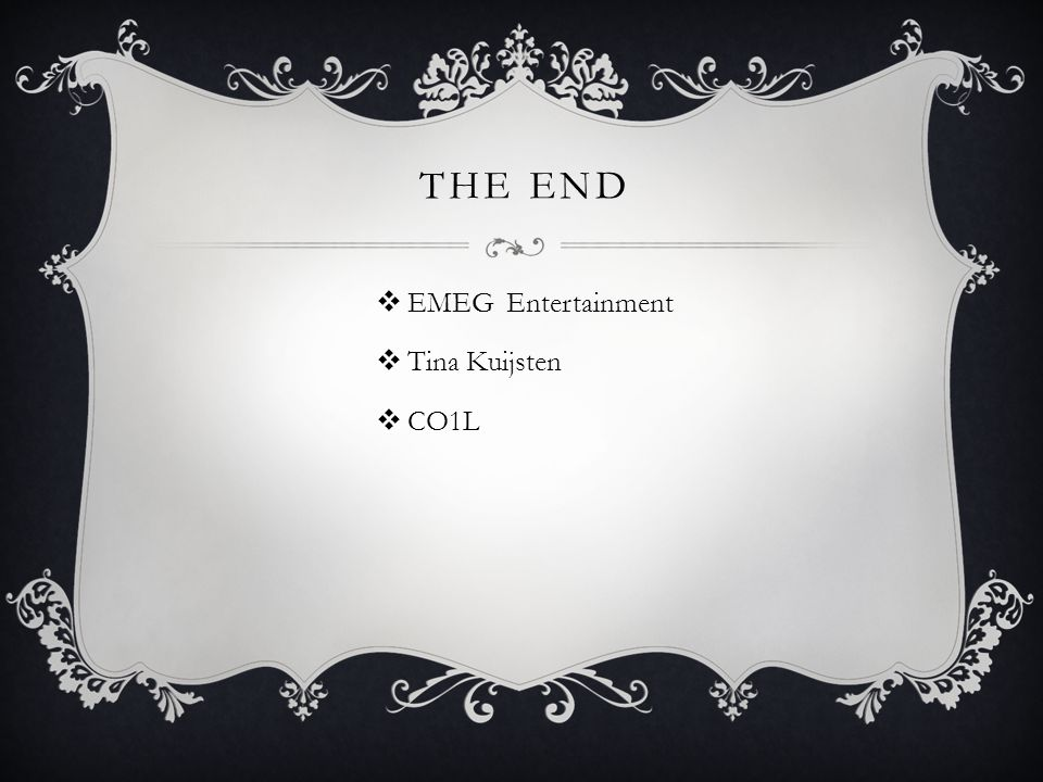 The END EMEG Entertainment Tina Kuijsten CO1L