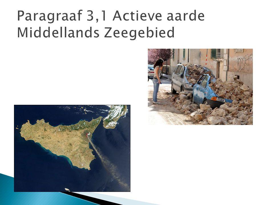 Paragraaf 3,1 Actieve aarde Middellands Zeegebied