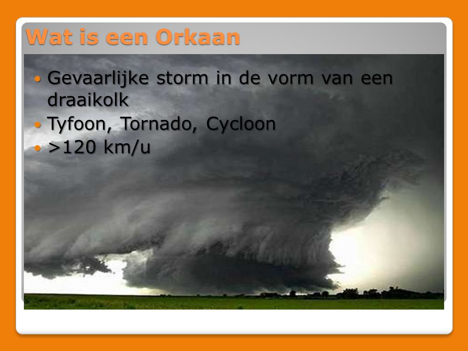 Wat is een Orkaan Gevaarlijke storm in de vorm van een draaikolk