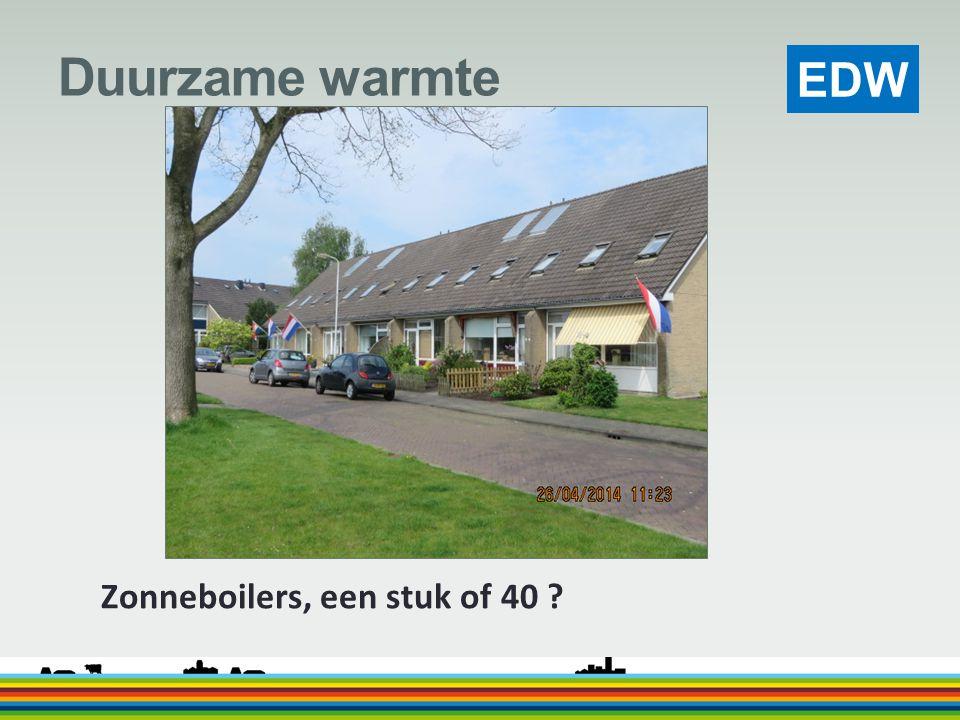 Duurzame warmte Zonneboilers, een stuk of 40