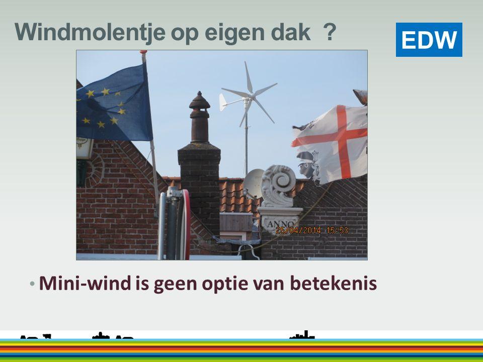 Windmolentje op eigen dak