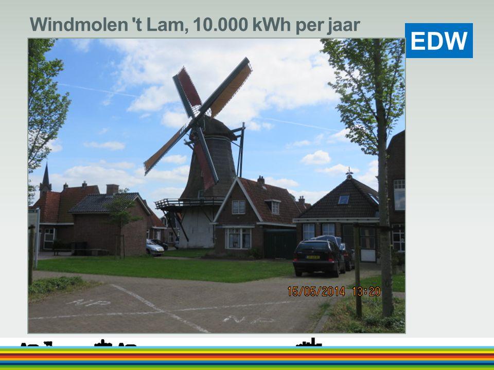 Windmolen t Lam, 10.000 kWh per jaar